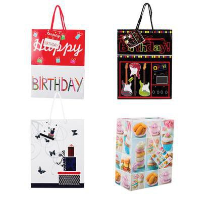Bulk Pack 15 X Assorted Medium Birthday Gift Bag 23cm 18cm Loading Zoom