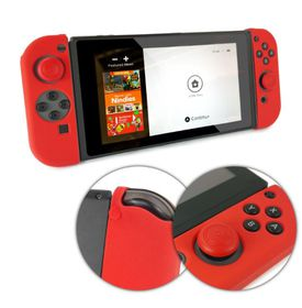 Nintendo Switch 2 Parts (Left Right) Soft Feel Silicone Case with Joystick Grips - Red
