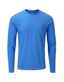 Charles Wilson Mens Long Sleeve Crew Neck T-Shirt - Blue