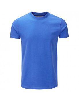 Charles Wilson Mens Premium Crew Neck T-Shirt - Blue