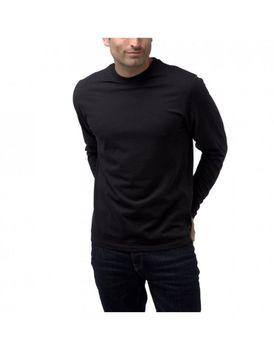 Charles Wilson Mens Long Sleeve Crew Neck T-Shirt - Black