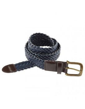 Charles Wilson Mens Braided Belt - Navy