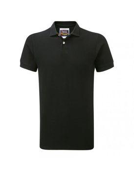 Charles Wilson Mens Plain Pique Polo Shirt - Black