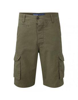 Charles Wilson Mens Plain Cargo Shorts - Khaki