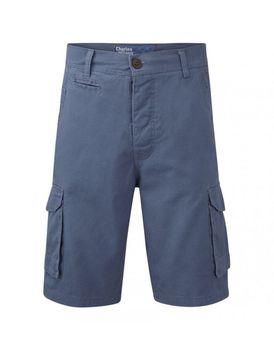 Charles Wilson Mens Plain Cargo Shorts - Slate Blue