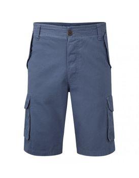 Charles Wilson Mens Classic Cargo Shorts - Slate Blue