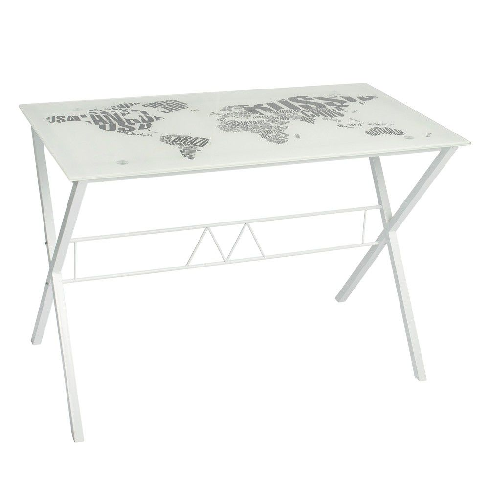 Urban Glass Desk White