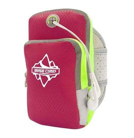"""Basecamp Multifunctional Sports ArmBag - Fits 3.5-6"""" Cell Phones(Pink)"""