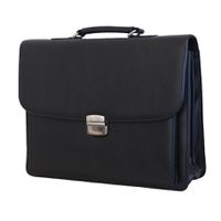 Fino Large Leather Laptop Briefcase - Black (Bb139-602)