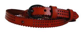 Fino Ladies Genuine Leather Belt D - Brown