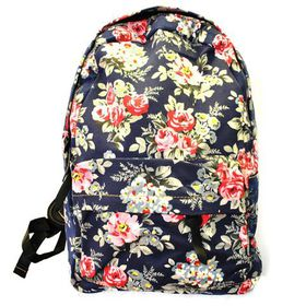 Stamped Rose Fashion Backpack
