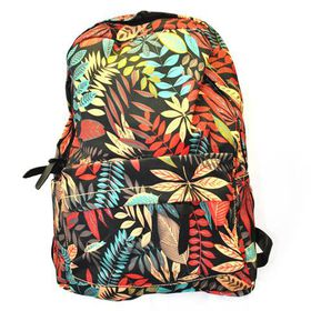 Lily & Rose MultiCloured Tropical Leaf Fashion Backpack