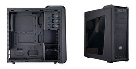 Coolermaster 593 Windowed Desktop Case - Black