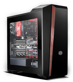 Coolermaster Masterbox 5T Desktop Chassis - Black & Red
