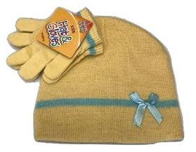 Girls Beanie Hat & Glove Set