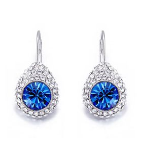 CDE Diana Earrings with Swarovski Crystals - Silver