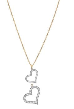 Art Jewellers 9Ct/925 Gold Fusion Cz Heart Pendant With Chain - 820490