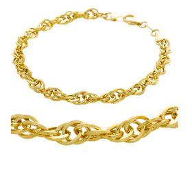 Art Jewellers 9Ct/925 Yellow Gold Fusion Fancy Twisted Bracelet - GSOLK-080-19