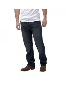 Charles Wilson Mens Loose Fit Jeans - Dark-Wash