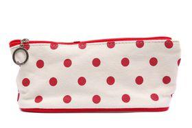 Red Polka Dot Pencil/Cosmetic Bag