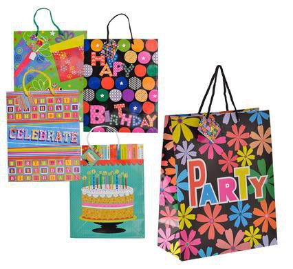 Bulk Pack 10 X Large Birthday Gift Bags Orted Loading Zoom