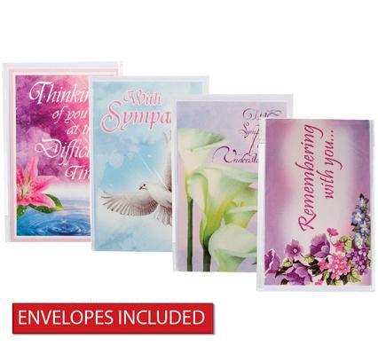 bulk pack 8 x sympathy card envelope loading zoom - Bulk Sympathy Cards