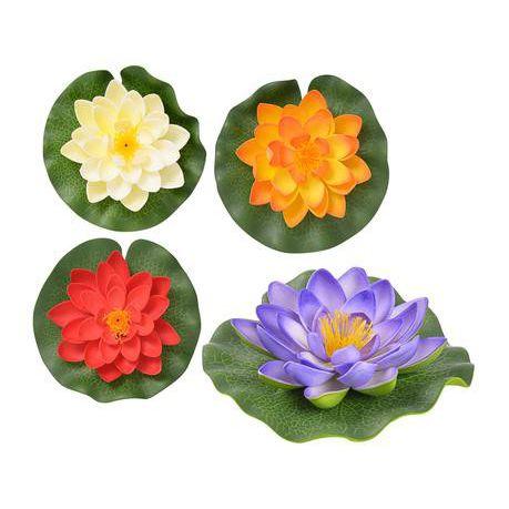 Bulk Pack 8 X Floating Lotus Flower 14cm Assorted Colours Buy