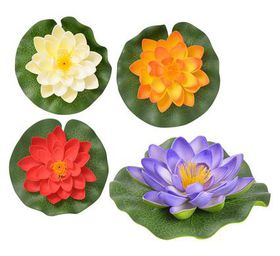 Bulk pack 8 x floating lotus flower 14cm assorted colours buy bulk pack 8 x floating lotus flower 14cm assorted colours mightylinksfo