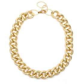 Chunky Gold Plated Thick Curb Link Statement Chain