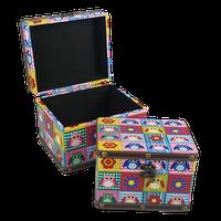 Owl Wooden Storage Box Set Of 2