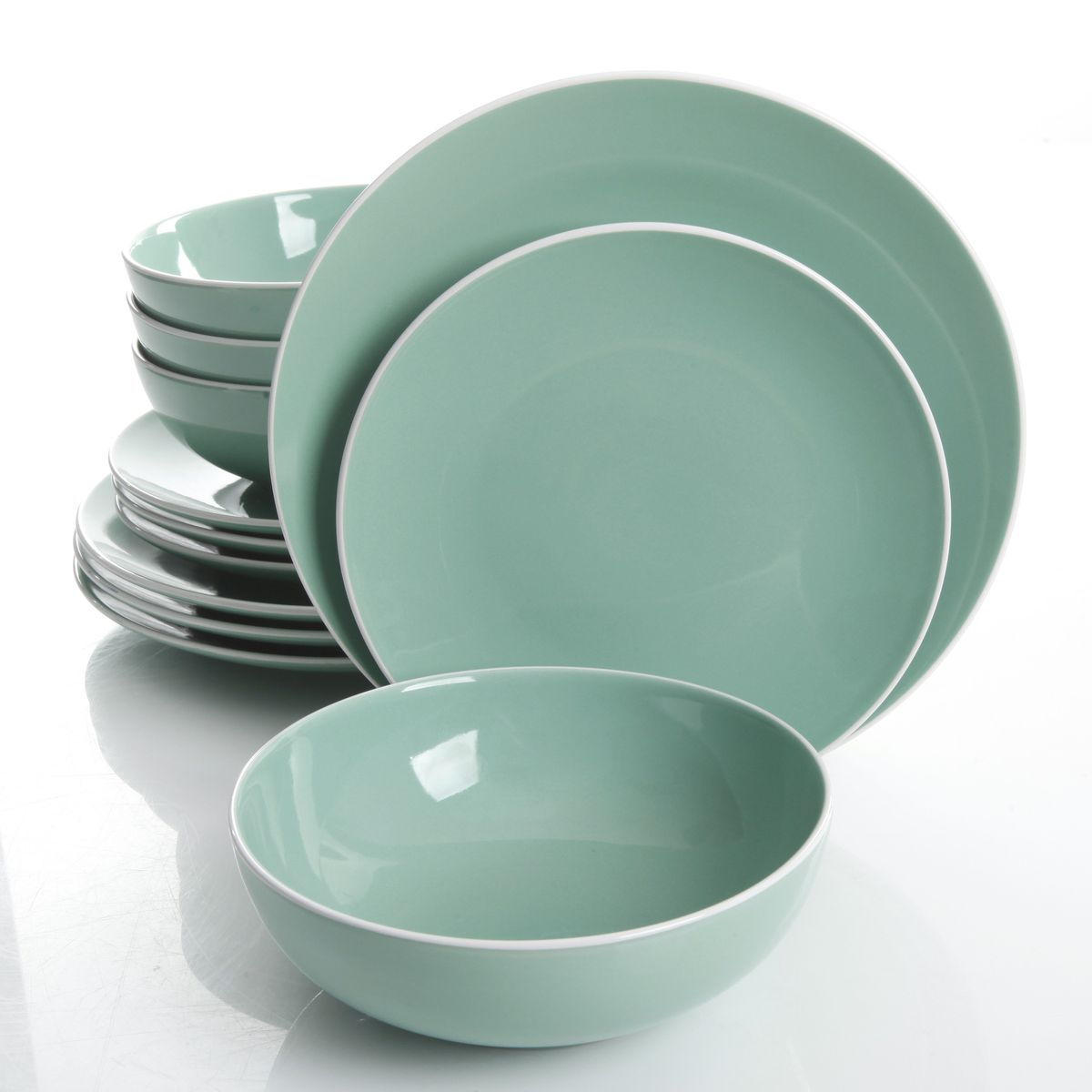 Mainstays 12 Piece Two Tone Dinnerware Set  sc 1 st  Takealot.com & Mainstays 12 Piece Two Tone Dinnerware Set | Buy Online in South ...