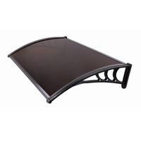Infinity Polycarbonate Awning 1.5 X 1.0M (Bronze Fluted Sheet)