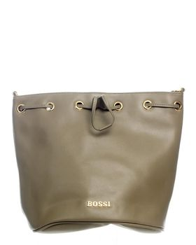 Bossi Ladies Bucket Drawstring Handbag - Olive