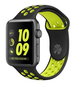 Ökotec Soft Silicone 42mm Sports Band Strap for Apple Watch - Black & Yellow (Size: M/L)