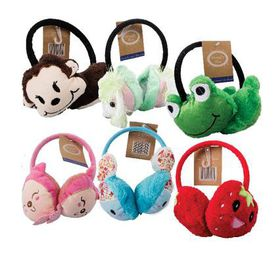 Bulk Pack 4 x Plush Animals Ear Muff Alice Band Assorted shapes & Colours
