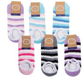 Bulk Pack 5 X Indoor Rubber Grip Socks - Assorted Designs (Size: XL)