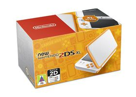 New Nintendo 2DS XL White + Orange (3DS)
