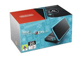 New Nintendo 2DS XL Black + Turquoise (3DS)
