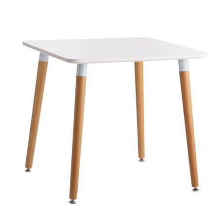 Patio Style White 80cm Square Table With Mdf Top Beech Wood Legs Online In South Africa Takealot