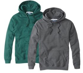 Charles Wilson Lightweight Pullover Hoody - Two Pack Saver - Charcoal & Green