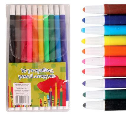 4 Pack Crayons Bulk | Bulk Pack 4 X Propelling Assorted Pencil Crayons Pack Of 10 Buy
