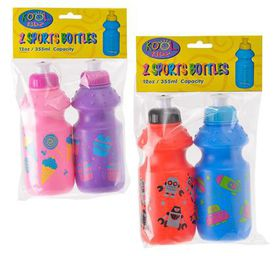 Bulk Pack 4 x Kool Kidz Sports Water Bottle 2 Piece Pack - 355ml