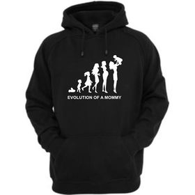 Evolution Of A Mommy Front Pocket Hoodie