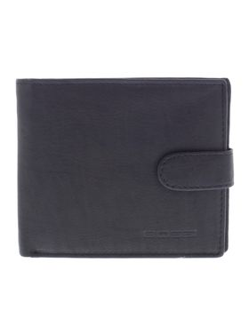 Bossi Antique Leather Executive Billfold with Tab - Black