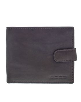 Bossi Antique Leather Executive Billfold with Tab - Brown