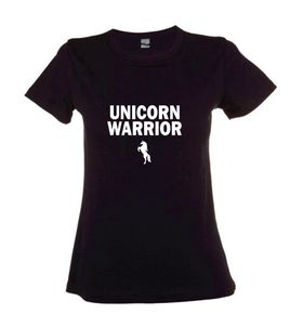 Unicorn Warrior Black Ladies T-Shirt