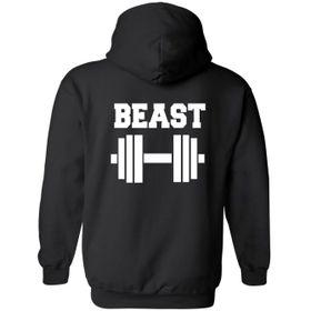 Beast Black Hoodie Front Pocket Back Print