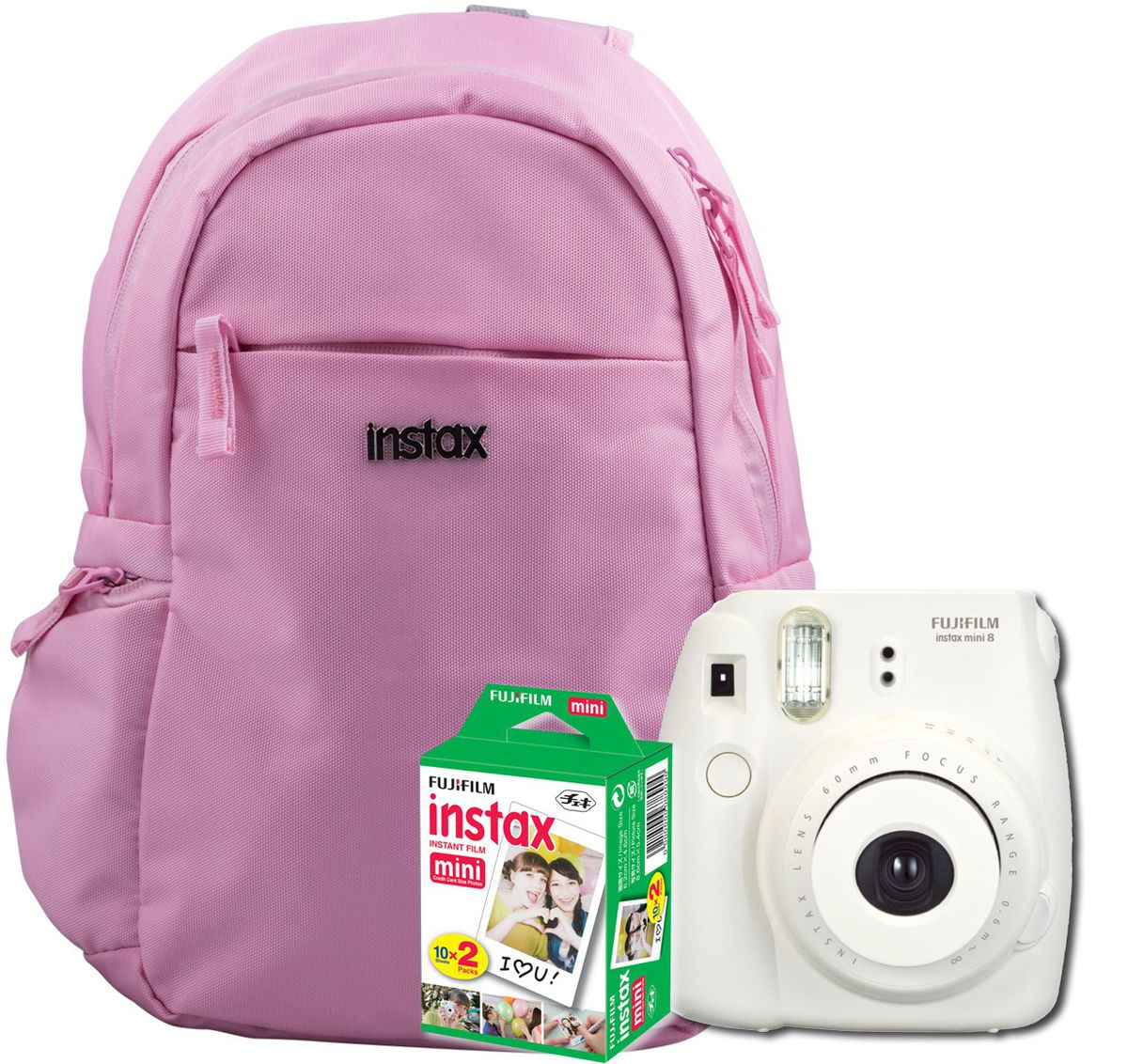 Fujifilm Instax Mini 8 Camera Backpack Bundle - White | Buy Online ...