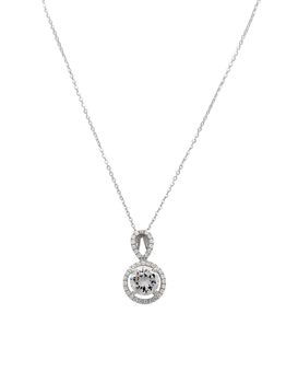 925 Sterling Silver Pendant With A 8mm Centre Cubic Zirconia