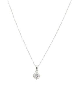 925 Sterling Silver 7mm Claw Cubic Zirconia Solitaire Pendant Set